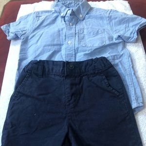 Great Condition - Toddler boys shirt/shorts set!
